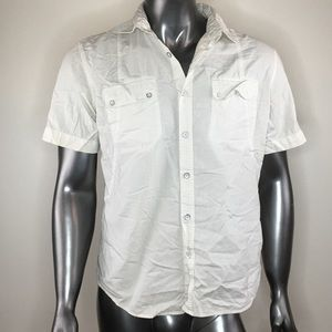 DKNY jeans short sleeve shirt men off white size M